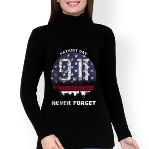 Patriot Day Memorial 911 Never Forget American Flag shirt