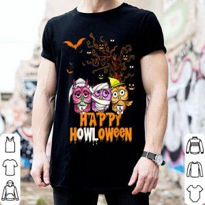 Premium Happy Owloween Gift Funny Halloween Owl Pumpkin Witch shirt