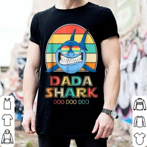 Top Retro Vintage Dada Sharks Gift For Father shirt