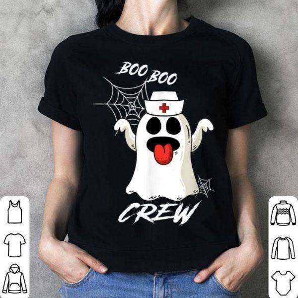 Awesome Boo Boo Crew Nurse Ghost Paramedic EMT EMS Funny Halloween shirt