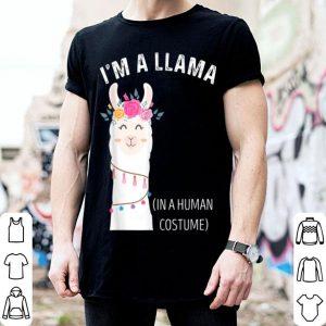 Awesome I'm a Llama in a Human Costume Funny Halloween Llama Lovers shirt