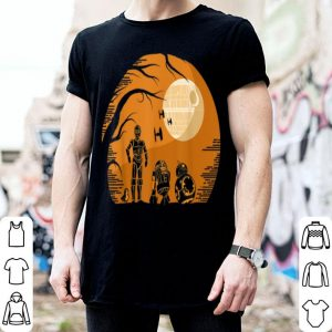 Awesome Star Wars Droids Halloween Orange Hue Death Star Portrait shirt