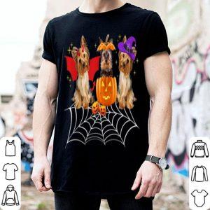 Awesome Three Yorkshire Dogs Halloween Yorkie Halloween Gift shirt