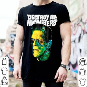 Awesome Vintage Frankenstein Halloween Party Horror Movie shirt