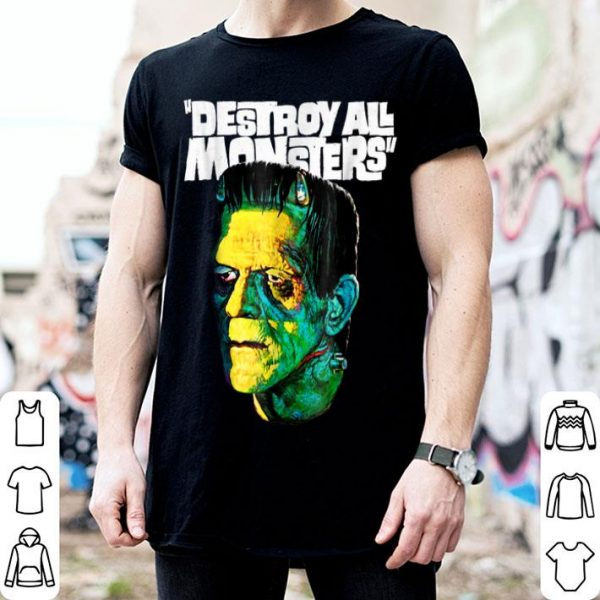 Awesome Vintage Frankenstein Halloween Party Horror Movie shirt