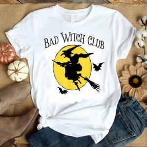 Beautiful Halloween BAD WITCH CLUB Women Mom Teen Tween Girls Funny shirt
