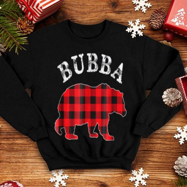 Beautiful Red Plaid Bubba Bear Matching Buffalo Pajama shirt