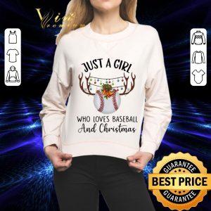 Cheap Just a girl who loves baseball and Christmas shirt
