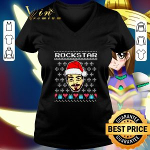 Cheap Post Malone Rockstar Christmas shirt