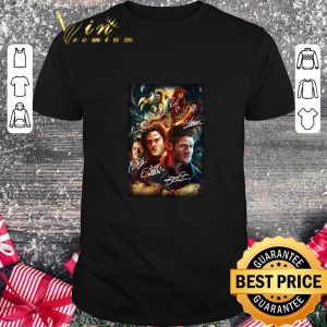 Cheap Supernatural Family Don't End With Blood Signatures shirt