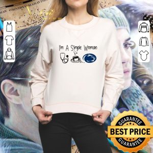 Cool I'm a simple woman I like Nurse Coffee and Penn State shirt