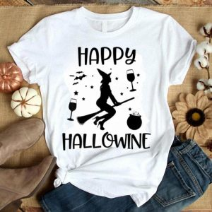 Funny Happy Hallowine Funny Halloween Wine Witch Party Pun Gift shirt