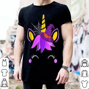 Funny Unicorn Witch's hat Halloween Costume Girls Kids shirt