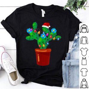 Hot Christmas Lights Cactus Lover Funny Xmas Gift shirt