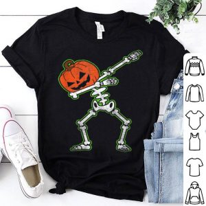 Hot Dabbing Skeleton Pumpkin Halloween Dab Top shirt