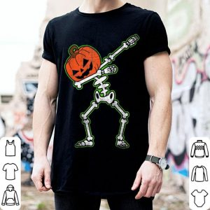Hot Dabbing Skeleton Pumpkin Halloween Dab Top shirt