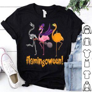 Hot Flamingo Witch Flamingoween Pumpkin Halloween Costume shirt