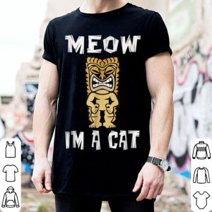 Hot Hawaiian Tiki Luau Party Cat Lover Halloween shirt