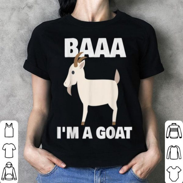 Nice Baa I'm A Goat Costume Animal Funny Halloween Party shirt
