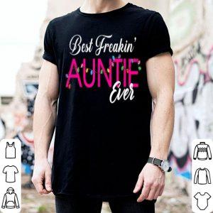 Nice Best Freakin' Auntie Ever light Christmas shirt