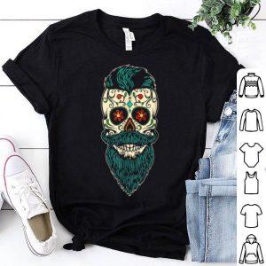 Nice Day Of The Dead Bearded Sugar Skull Halloween Costume shirt