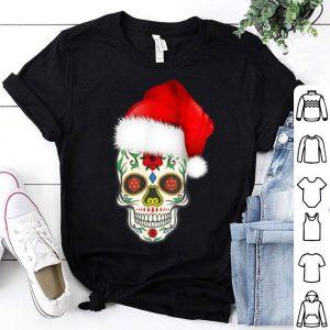Nice Day Of The Dead Christmas Santa Hat Sugar Skull Party shirt