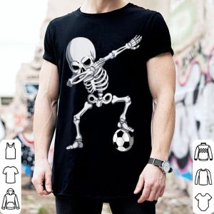 Nice Halloween Dabbing Skeleton Apparel, Soccer Player Dab Boys shirt