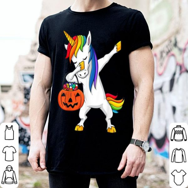 Official Dabbing Unicorn Funny Halloween Dab Girls Kids shirt