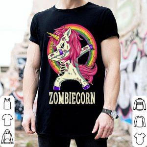 Official Zombiecorn Zombie Unicorn Dab Dance Halloween Gift shirt