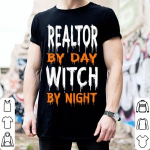 Original Realtor By Day Witch By Night Funny Halloween shirt