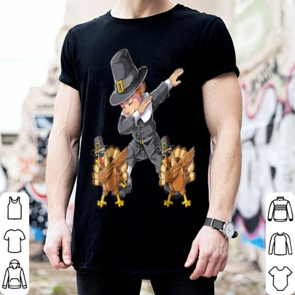 Original Thanksgiving for Boys Dabbing Pilgrim Kids Turkey Dab shirt