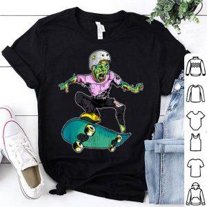 Original Zombie Teen Halloween Skateboarder Costume Kids Gift shirt