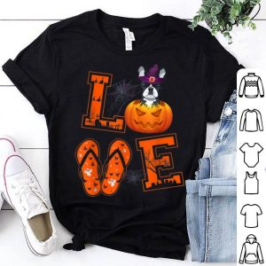 Premium LOVE French Bulldog Pumpkin Halloween Gifts shirt