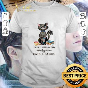 Top Easily distracted by cats & fabric shirt
