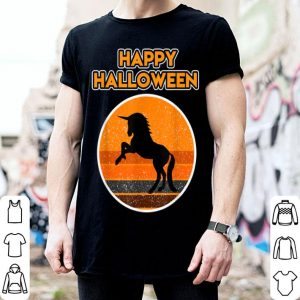 Top Halloween with a beautiful black Unicorn shirt