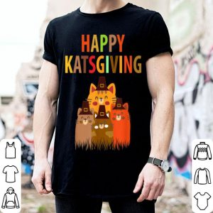 Top Happy Katsgiving Thanksgiving Cats Lovers Pilgrim Hat shirt