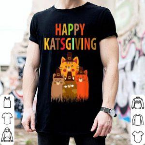 Top Happy Katsgiving Thanksgiving Cats Lovers Pilgrim Hat shirt