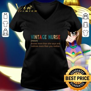 Top Vintage nurse knows more than she says and notices more than you shirt