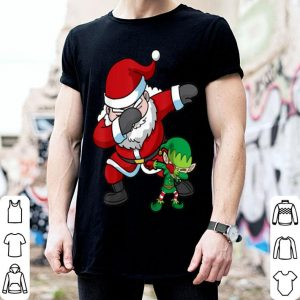 Awesome Christmas Boys Dabbing Santa Elf Dab Dance Gift shirt