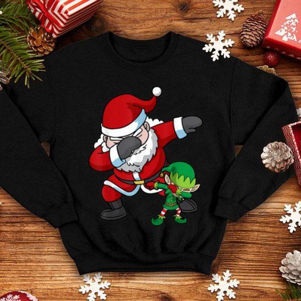 Awesome Christmas Boys Dabbing Santa Elf Dab Dance Gift shirt