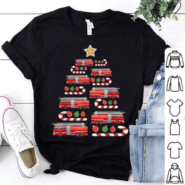 Awesome Christmas Firetruck Fireman Firefighter Xmas Tree sweater