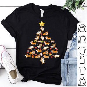 Awesome Corgi Christmas Tree Funny Corgi Christmas Pajamas shirt
