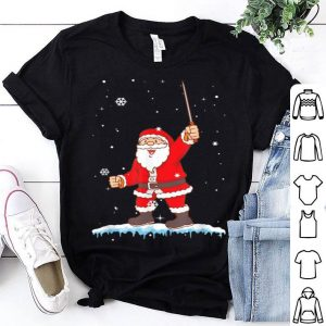 Awesome Funny Cute Santa Claus Fencing Christmas Xmas Sports Gift sweater