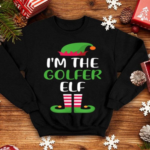 Awesome I'm The Golfer Elf Matching Family Group Christmas shirt