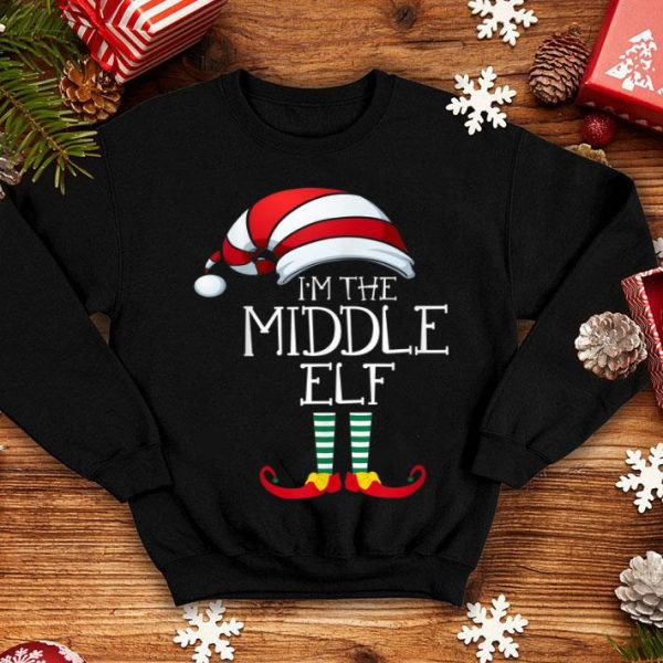 Awesome I'm The Middle Elf Family Matching Christmas Gift Group shirt