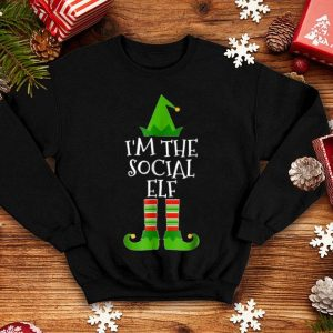 Awesome I'm The Social Elf Matching Family Group Christmas shirt