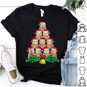 Awesome Sloth Christmas Tree Xmas Lover shirt