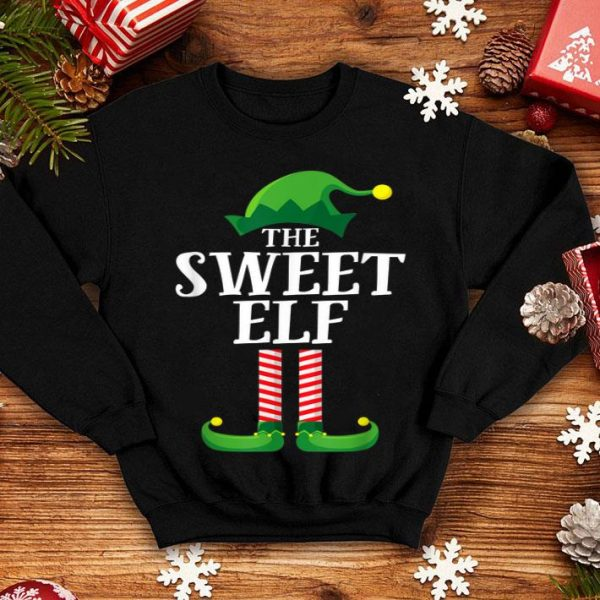 Awesome Sweet Elf Matching Family Group Christmas Party Pajama sweater