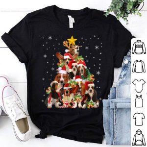 Beautiful Basset Hound Christmas Tree Xmas Gift For Dog Lover shirt