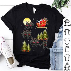 Beautiful Cockapoo Reindeer Christmas Dog Riding Santa Xmas Gift shirt